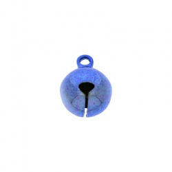 Jingle bell Ø 12mm blue colour nickel free