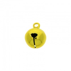 Jingle bell Ø 12mm yellow colour nickel free