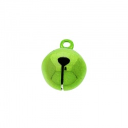 Jingle bell Ø 14mm green colour nickel free