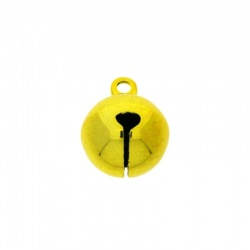 Jingle bell Ø 14mm yellow colour nickel free