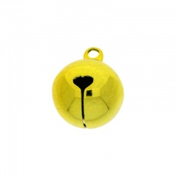 Jingle bell Ø 16mm yellow colour nickel free
