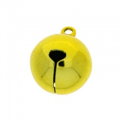 Jingle bell Ø 20mm yellow colour nickel free