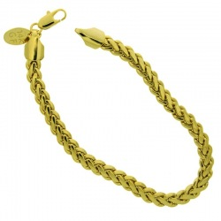 Brass bracelet 18,5cms Ø 1,4mm