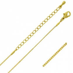 Choker necklace 47 cms adjustable. Brass chain width 0,9mm.