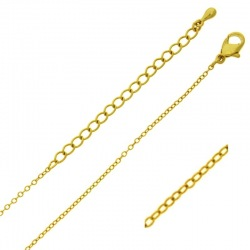 Choker necklace 47 cms adjustable. Brass chain width 1,3mm.