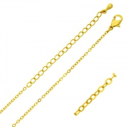 Choker necklace 47 cms adjustable. Brass chain width 1,6mm.