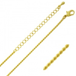Choker necklace 47 cms adjustable. Brass chain width 1 mm.