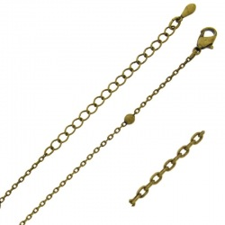 Choker necklace 47 cms adjustable. Brass chain width 0,9mm. Ball Ø 3,2mm