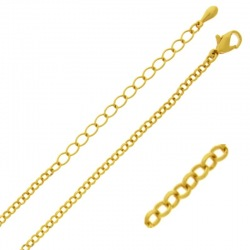 Choker necklace 47 cms adjustable. Brass chain width 2,5mm.
