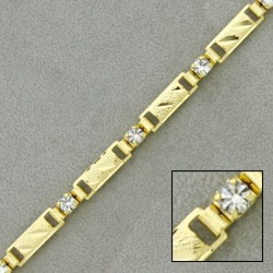 Brass chain with strass width 5mm