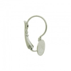 Earclip 18x14mm with cup Ø8mm
