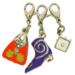 Pack 3 enamelled pendants (nickel free)
