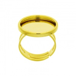 Adjustable ring with Ø 18mm base for cabochon