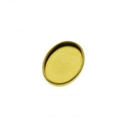 Oval base exterior 28x21mm, interior 25x18mm for stones 18x25mm
