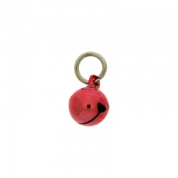Jingle bell Ø 10mm red colour with round jump ring Ø8x wire Ø1,2mm assembled.