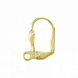 Earclip 16x12mm with open jump ring