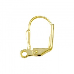 Earclip 14x10mm with open jump ring