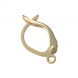 Earclip 21x12mm with open jump ring