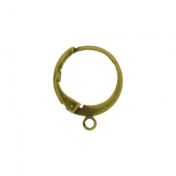 Round earclip 15x12mm with open jump ring