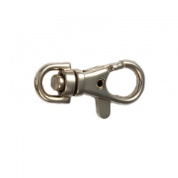 Nickel plated pewter lobster clasp 37mm
