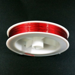 Stainless steel wire Ø 0,45mm red