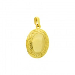 Oval box pendant 28x16mm