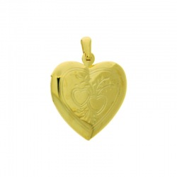 Heart box pendant 32x23mm