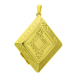 Rhombus box pendant 45x32mm