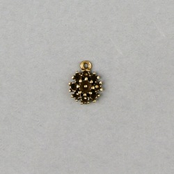 Filigree finding Ø 11mm with 9 sockets to strass