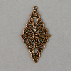 Filigree finding 47x25mm