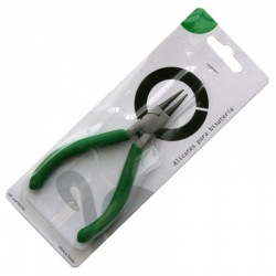 Round-nose pliers in blister. Length 120mm.