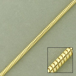 Snake brass chain Ø2,6mm