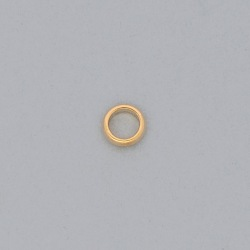 Brass ring Ø 8x2,5mm half round shape.