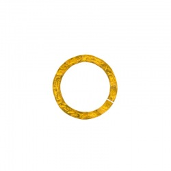 Decorative flat jump ring Ø 17mm