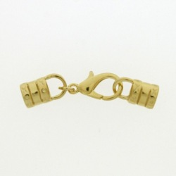 Lobster clasp 18mm + 2 ends for cord Ø 6mm