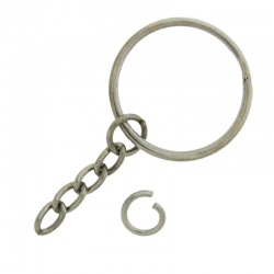 Keyring outside Ø 25mm with chain and jump ring