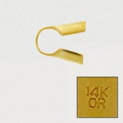"""Open round end. Interior Ø 4mm. With """"14K OR"""" engraved."""