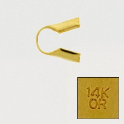 """Open round end. Interior Ø 3mm. With """"14K OR"""" engraved."""