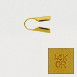 """Open round end. Interior Ø 2,5mm. With """"14K OR"""" engraved."""