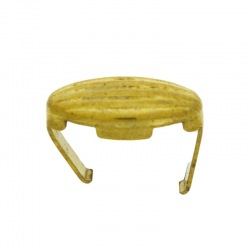 Brass grated spacer length 17,5mm