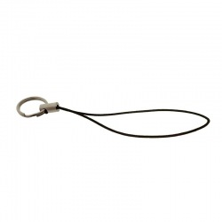 Mobile phone cord mounted with double jumpring Ø12mm