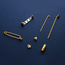 Brooch, pin and hatpin parts
