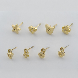 Ear studs and earring bases